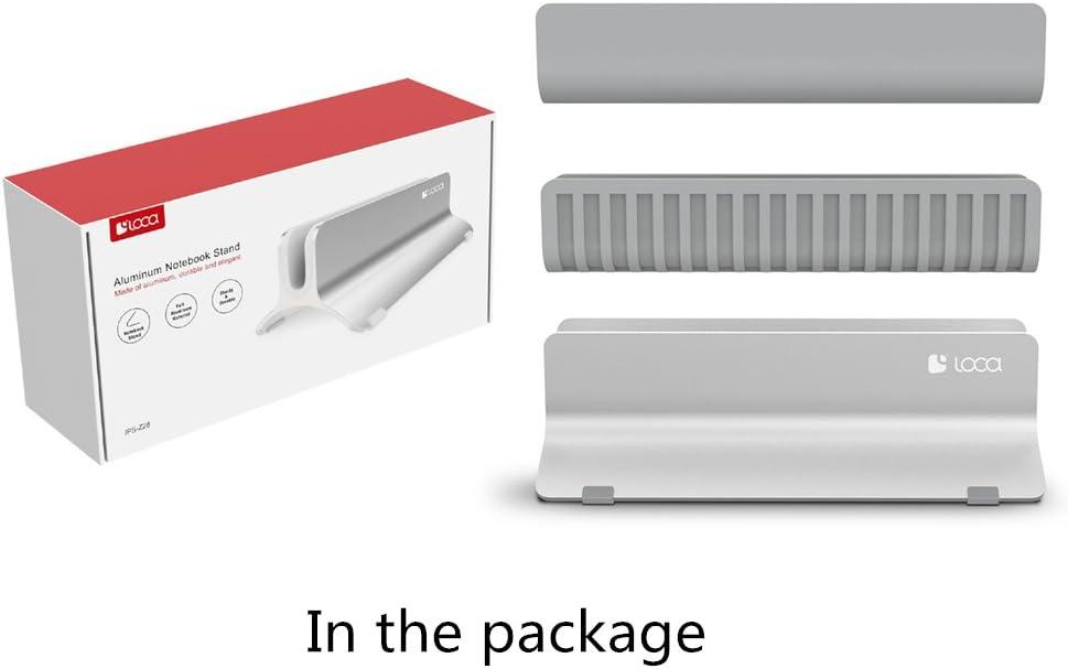 Vertical Support pour Ordinateur Portable, LOCA Support de Bureau en Aluminium pour Apple MacBook, Ordinateurs Portables