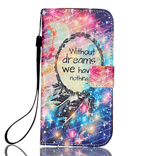 Galaxy S7 Edge Cover Case,SAVYOU PU Leather Case Wallet Stand Book Cover with Credit ID Holders Flip Magnetic Button Practical Cover Case for Samsung Galaxy S7 Edge (Dreams)