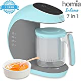 kitchen machine food processor - Baby Food Processor Chopper And Steamer 7 in 1, Food Maker For Toddlers With Automatic Steam, Blend, Chop, Disinfect And Clean Function, 20 Oz Tritan Stirring Cup, Touch Control Panel, Auto Shut-Off