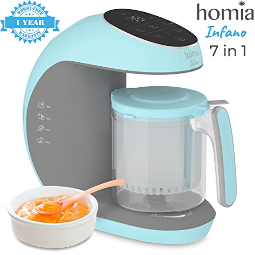 Baby Food Processor Chopper And Steamer 7 in 1, Food Maker For Toddlers With Automatic Steam, Blend, Chop, Disinfect And Clean Function, 20 Oz Tritan Stirring Cup, Touch Control Panel, Auto Shut-Off