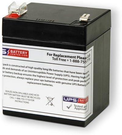 RT1250-F2 Compatible Sealed Lead Acid Battery 12V 5.5AH w// F2 Terminal