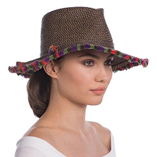 Eric Javits Luxury Fashion Designer Women's Headwear Hat - Frida - Antique Mix by Eric Javits