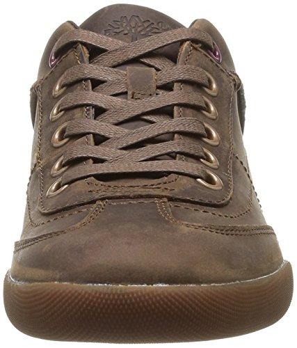 Timberland C9445B Zapatillas de Deporte de Cuero para Hombre Marrón - Braun (Brown Oiled FG)