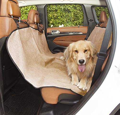 Tan Universal Waterproof Hammock Back Seat Cover By Majestic Pet Products
