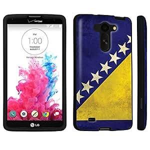 DuroCase ? LG G Vista VS880 / D631 Hard Case Black - (Bosnia Herzegovina Flag)