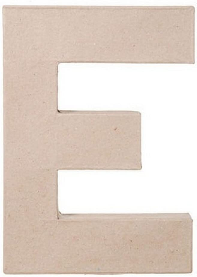 2862 E Bundle with 1 Artsiga Crafts Small Bag Darice DIY Crafts Supplies Paper Mache Letter E 8 x 5.5 x 1 inches 3 Pack