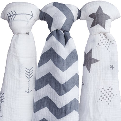 Muslin Swaddle Blankets| 100% Soft Organic Cotton Swaddle Blanket| muslin swaddle blanket| swaddle blankets| baby swaddle blankets| 3 Pack Set 47