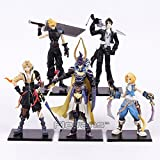 Final Fantasy 5pcs/set Cloud Strife Squall Leonhart Tidus Warrior of Light Zack Fair PVC