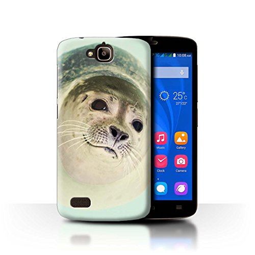 ver for Huawei Honor Holly/Curious Seal Design/Funny Animal Meme Collection ()
