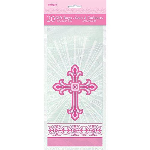 Radiant Cross Pink Religious Cellophane