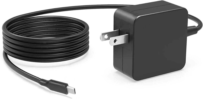 [GaN Tech] 65W 45W USB C Type-C AC Charger for HP Spectre x360 13 13-w063nr Elite X2 1012 G1 Elitebook 840 G5 G6 ProBook 640 650 450 440 G6 Laptop Power Supply Cord