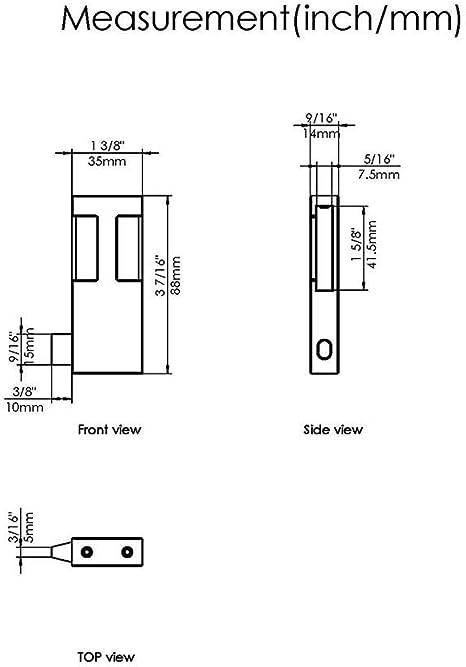 Topes para puerta corredera de 2 puertas, color negro mate, para riel plano de 3,81 cm de ancho y 0,63 cm de grosor, tamaño de la minoría.: Amazon.es: Bricolaje y herramientas