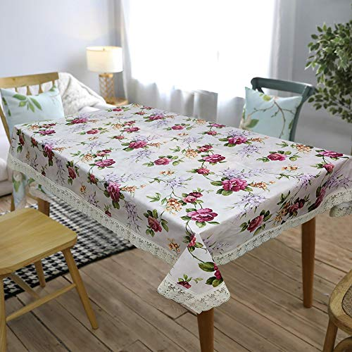 OrientalWeavers Decojewels PVC Center Table Cover, 40″ X 60″,Rectangle Shape Anti Bacterial, Anti Fungal Cover with White Lace (Fits Table Top Size 2 ft x 3 ft to 2.5 ft x4 ft) Price & Reviews