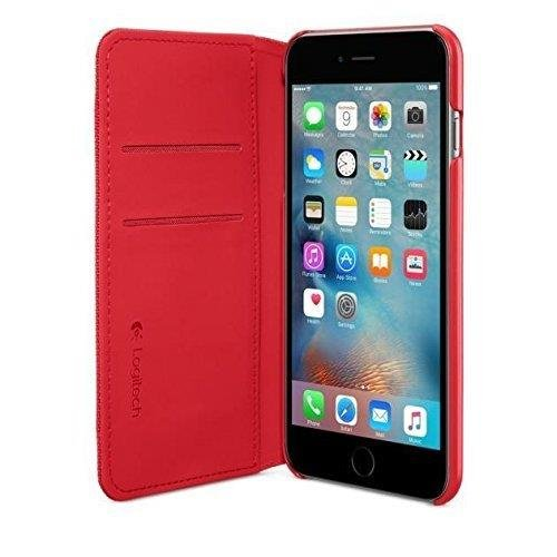 on sale a7d9c 9845a Logitech Folio Case for Apple iPhone 6 Plus - Retail Packaging - Red