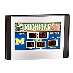 Team Sports America Michigan Wolverines Scoreboard Desk Clock
