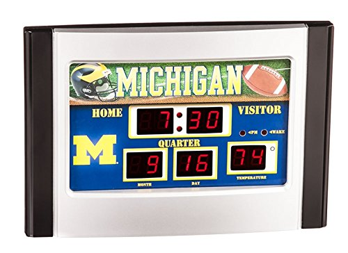 - Team Sports America Michigan Wolverines Scoreboard Desk Clock