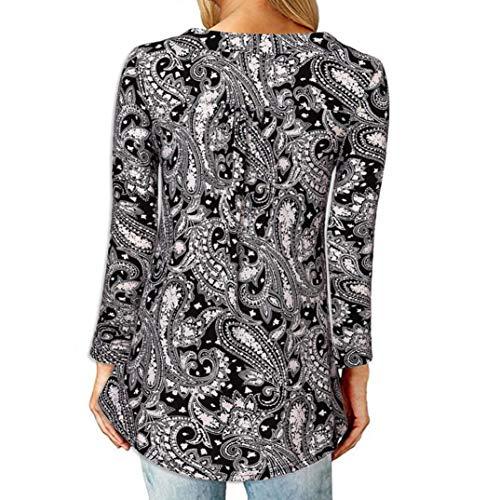 [S-2XL] レディース Tシャツ Vネック ボタン プリント 長袖 トップス おしゃれ ゆったり カジュアル 人気 高品質 快適 薄手 ホット製品 通勤 通学