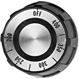 Star Mfg O9-70701-06 Knob Black & Silver 200-400 2'' Dia For Lang Fryer C-28M Range 70701-06 221516