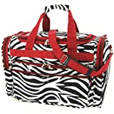 "Red Black White Zebra Duffle Dance Cheer Gym Bag 19"" Review"