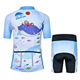 Kids Cycling Jersey Set with 3D Padded Shorts