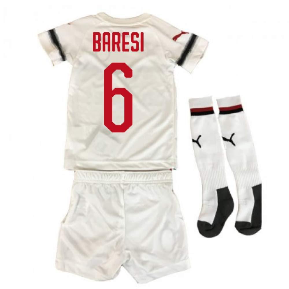 UKSoccershop 2018-2019 AC Milan Puma Away Mini Kit (Franco Baresi 6)