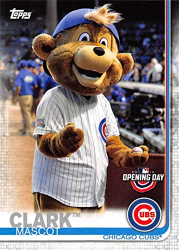 2019 Topps Opening Day Mascots #M-3 Clark Chicago Cubs MLB Baseball Trading Card