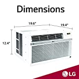 LG LW8017ERSM Smart Window Air Conditioner (Wi-Fi), 8,000 BTU 115V, White
