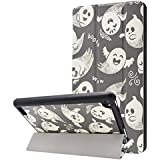 Dailylux Case for All-New Fire 7 Tablet (2017 7th Generation),Amazon Fire 7 Case,Slim Fit Lightweight PU Leather Folio Standing Cover with Auto Wake/Sleep -Halloween Carnival