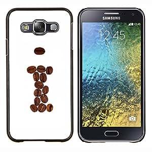 TECHCASE---Cubierta de la caja de protección para la piel dura ** Samsung Galaxy E5 E500 ** --Granos de café de Brown me Hipster