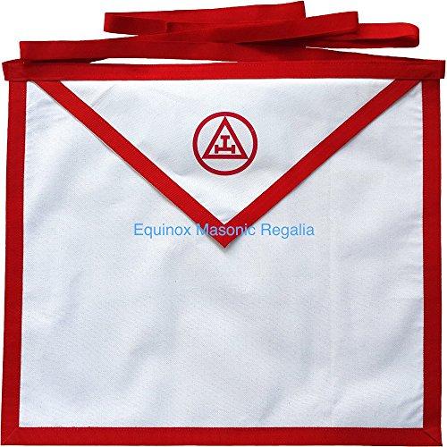 Equinox MR York Rite RAM Royal Arch Mason White Duck Cotton thin Cloth Apron 16x16