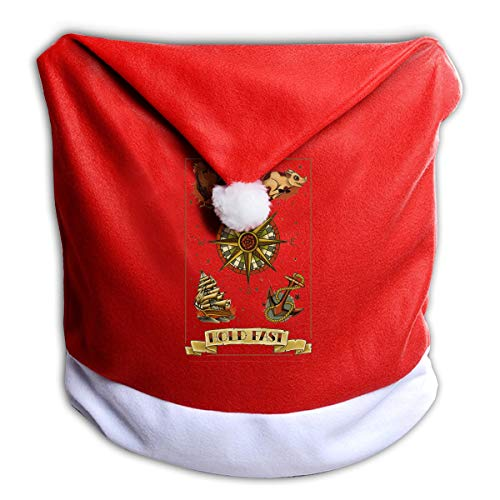 Maple Memories Galaxy Voyage Compass Sailboat Chicken Pig Anchor Christmas Chair Back Santa Hat Cover Kitchen Chair Covers for Christmas Holiday Festive Decor