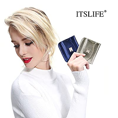 ITSLIFE Women RFID Blocking Wallet Ladies Slim Luxury Leather with Coin Pouch