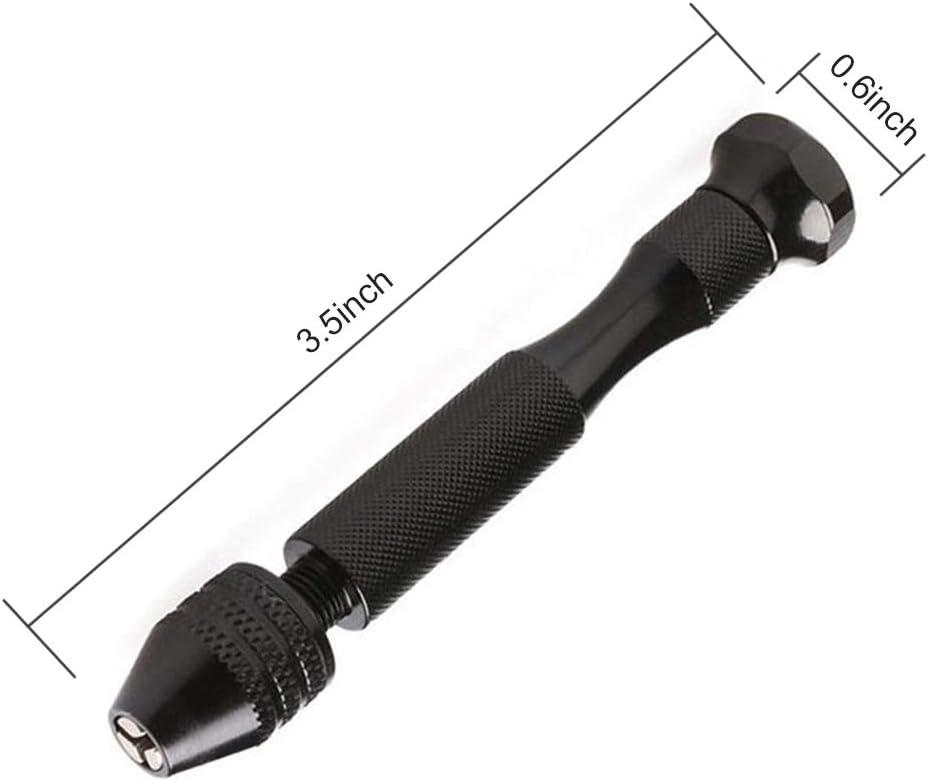 Chowcencen 20pcs Set de la torcedura del HSS Brocas Mini Set Taladro de Mano Broca de torsi/ón Configure el Taladro de Bricolaje 0.3-1.6mm Herramienta Di/ámetro