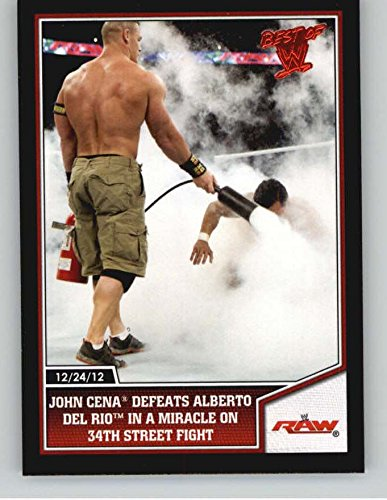 2013 Topps Best of WWE #72 John Cena Defeats Alberto Del Rio in a Miracle on 34th Street - 34th Shops On Street