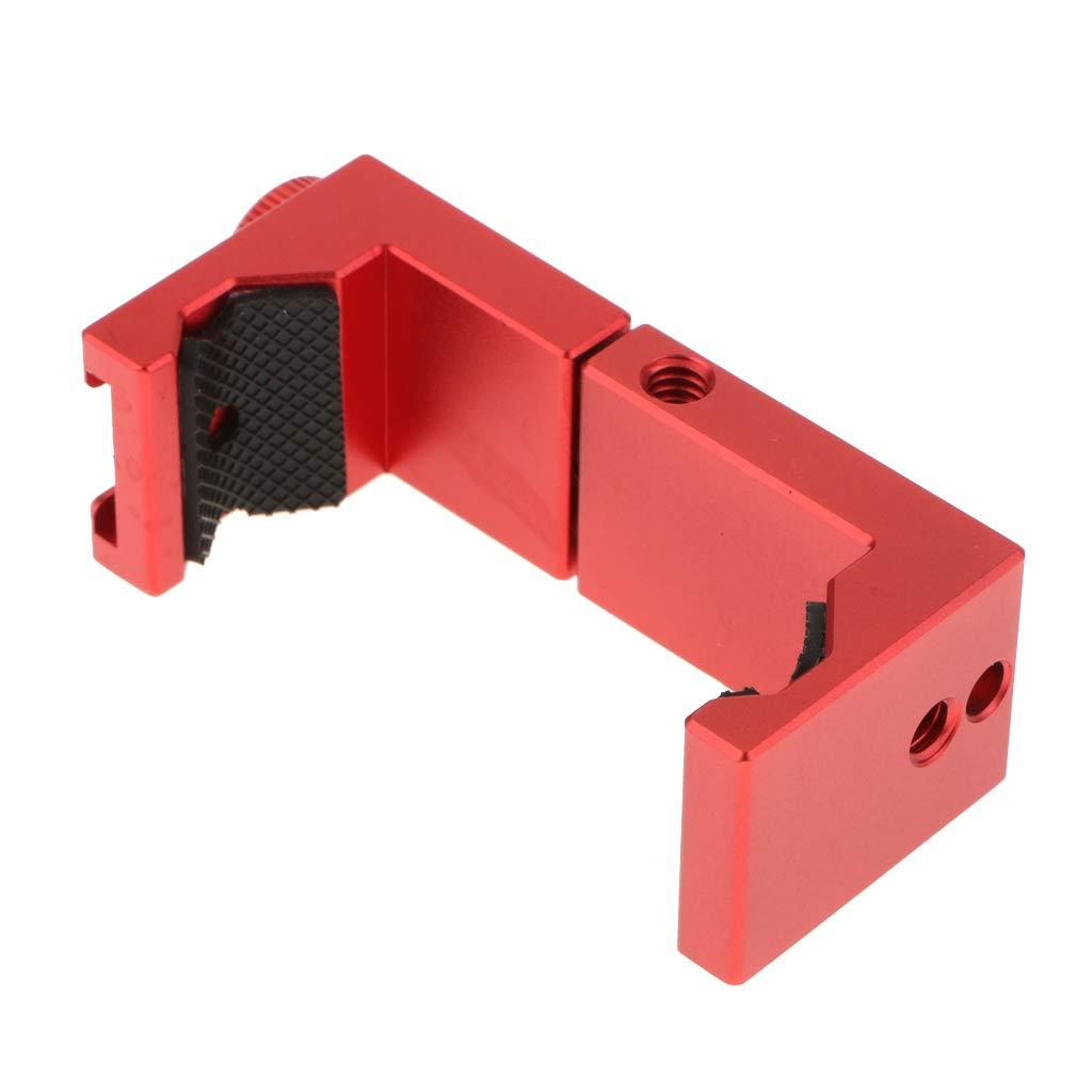 Nero KESOTO Clip di Fissaggio per Telefono Verticale Verticale in Metallo Ulanzi St-02s