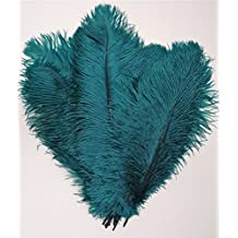 Kolight 30pcs 10''~12''(25~30cm) Natural Ostrich Feathers for DIY Home Wedding Party Office Decoration (Teal)