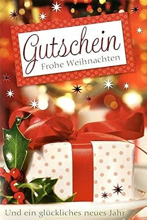 Weihnachtskarte Gutschein Karte Grußkarte Frohe Weihnachten Neujahr ...