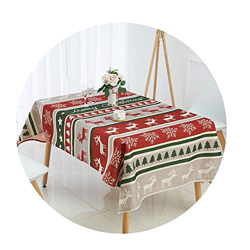 (COOCOl Great Tablecloth for Table Christmas Tablecloth Elk Snowman Tree Table Cloth Table Cover Nappe)