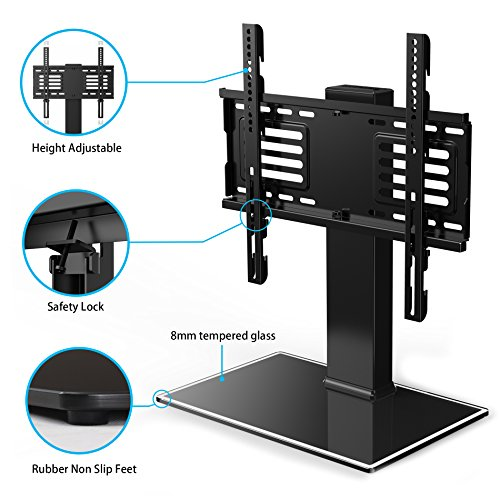 FITUEYES Universal TV Stand Base With Swivel Mount Height