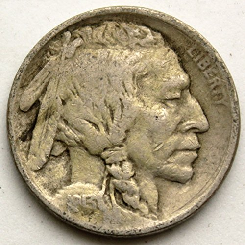 1913 Type (1913 T1 Buffalo Nickel Type 1 (Mound Type) VG)