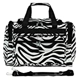 World Traveler 81T16-163  Duffle Bag, One Size, Black Trim Zebra
