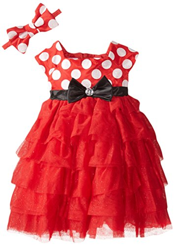 [Disney Little Girls' Minnie Role Play Dress, Red, 6/6X] (Little Girl Minnie Mouse Costumes)