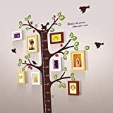 TIANTA- 8 Box Kindergarten Classroom Decoration Wall Stickers Frame Combination Solid Wood Photo Wall Stickers Small Fresh Children 's Room Creative Wall adorn ( Color : #9 )