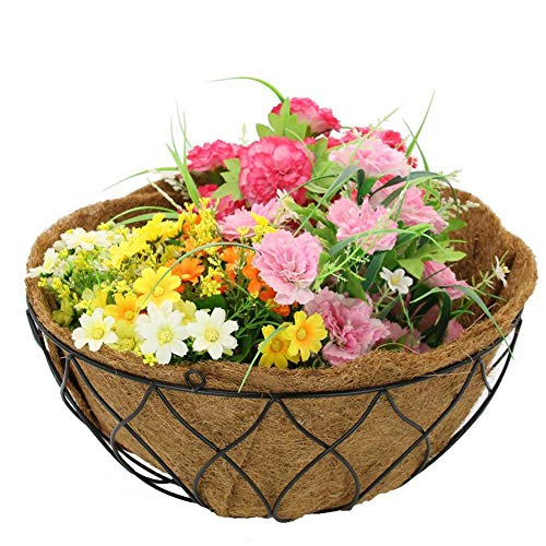 Planter Basket Liners - Bowl Shape/Boat Shape Coco Fiber Replacement Liner fit for All Hanging Planters Baskets Flower Pots