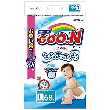 N (Goon)  Pañales japoneses L (9-14 kg) 68