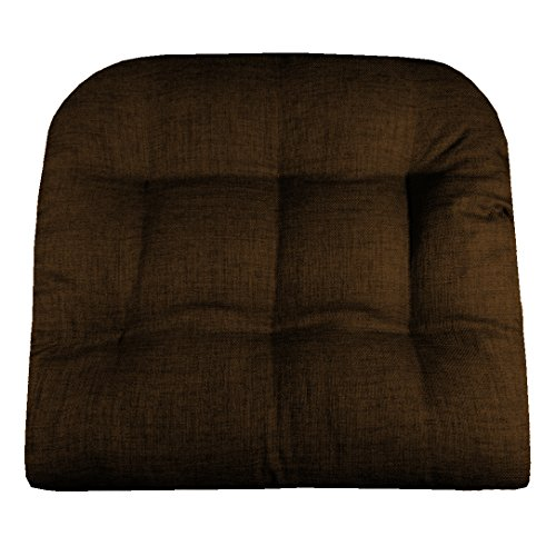 Barnett Products Patio Chair Cushion - Rave Chocolate Brown - Indoor/Outdoor: Mildew Resistant, Fade Resistant, Stain Resistant - Latex Foam Fill (Adirondack, Wicker)