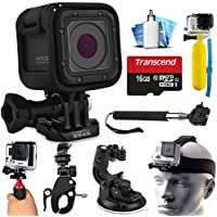 GoPro HERO5 Session HD Action Camera (CHDHS-501) with Extreme Sports Accessories Kit includes 16GB MicroSD Card + Selfie Stick + Head Strap + Floating Handle + Stabilizer + Car Mount + More!
