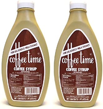 Coffee Time Coffee Syrup For Delicious Milk Drinks Intense Flavor Coffee Syrup