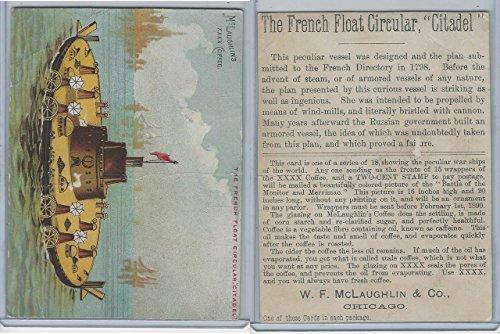 K64 McLaughlin Coffee, Peculiar War Ships, 1890, French Float Citadel