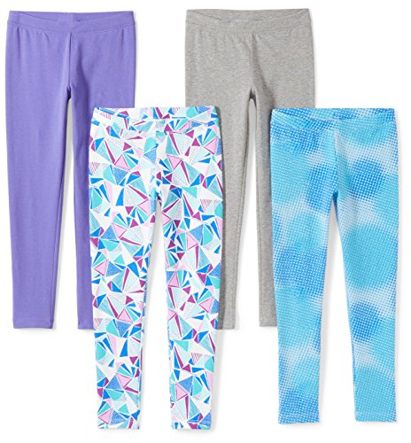Spotted Zebra Toddler Girls' 4-Pack Leggings, Soccer, 3T by Spotted Zebra